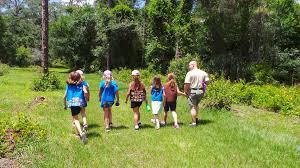 Participantes de un campamento juvenil